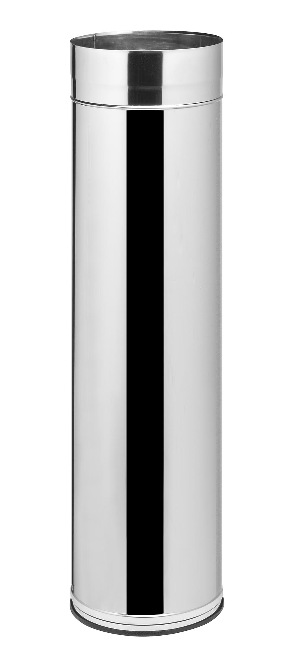 Finalrohr mit Kantenschutz Edelstahl Ø 300mm, 1000mm lang
