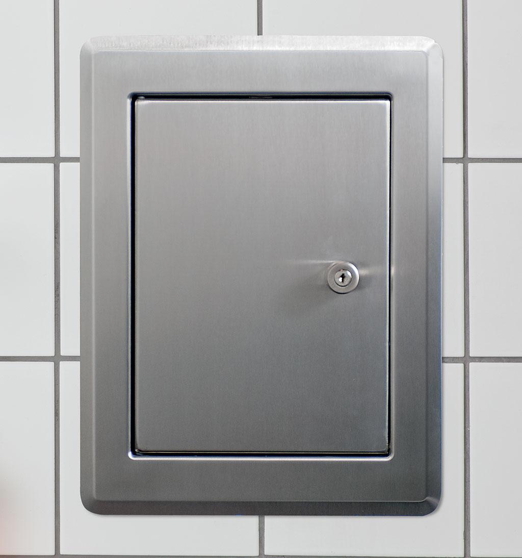 Schachttüre Edelstahl Weiß RAL 9016