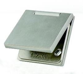 Premium MU 1 Metall Edelstahloptik Saugdose THOMAS