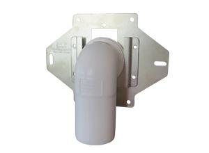 VACUCLEAN Montagerahmen für REHAU Kunststoff und Metall Saugdosen inkl. Anschlussrohr