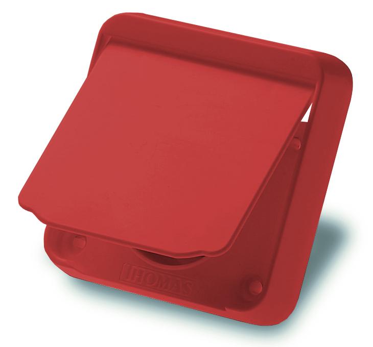 Gerätesaugdose in rot für THOMAS Zentralsauganlagen